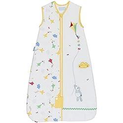 Grobag – Saco para bebe Unisex - 2.5 tog – Color Blanco con Detalles Amarillos– 6-18 meses