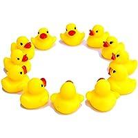 Isuper 12 unità giocattolo galleggiante di anatra da bagno di gomma con i suoni per i bambini