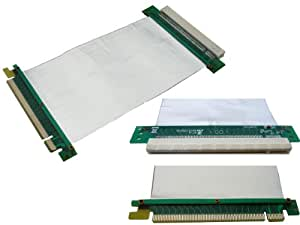 KALEA-INFORMATIQUE © - Riser PCI EXPRESS SOUPLE - PCIE 1 port - Nappe Blindée