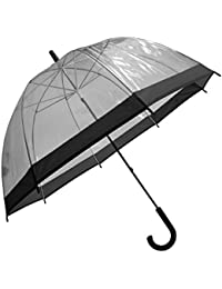 Universal Textiles Paraguas transparente estilo cúpula para adultos