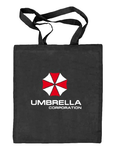 Shirtstreet24, Umbrella Corporation, Natur Stoffbeutel Jute Tasche (ONE SIZE) schwarz natur