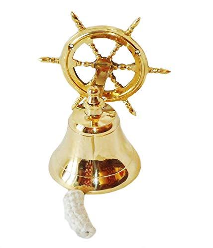 Sonnette Cloche de porte avec support de fixation Laiton 16,5 cm (6\