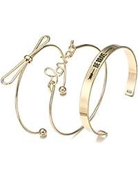Jewels Galaxy Brass and Cubic Zirconia Romantic Love & Note Design Brilliant Cuff Bracelet for Women & Girls