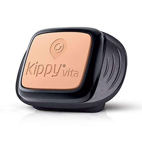 Kippy gps per cani e gatti oltre i 5 kg, funziona con smarphone e tablet, nero (black guardian)