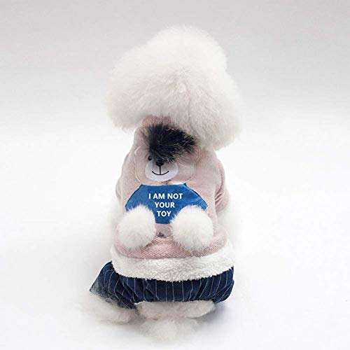 Ziel Kostüm Bär - ZHAS Warme Hundekleidung Cartoon Bär Haustiere Hundekleidung Für Hund Französische Bulldogge Haustier Overall Gepolsterte Hunde Mantel Jacke Welpen Kostüm Mops