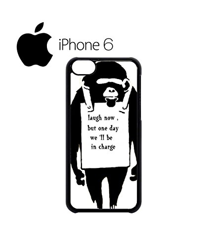 Banksy Monkey Laugh Now Swag Mobile Phone Case Back Cover for iPhone 6 Black Blanc