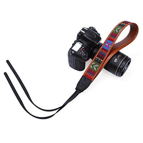 Slr-vintage Kamera (Beaspire Kameragurt Vintage Kamera Riemen Gurt Schultergurt Retro Aztec Tribal Streifen Tragegurt Leder Schulter Bohemian Neck Strap für alle SLR DSLR Kamera)