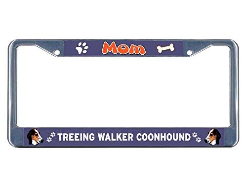 Treeing Walker Coonhound Dog Mom, verchromtes Metall, für Nummernschild, ideal für Männer und Frauen -