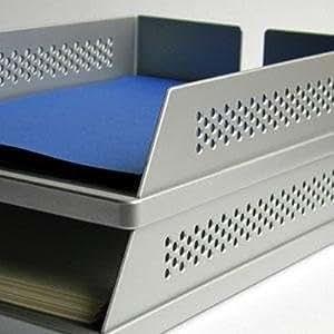 Corbeille à courrier aluminium rexite bABELE de la livraison :  lot de 2