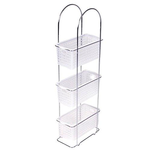 Mueble estantería para el cuarto de baño con tres cestas amovibles para  ordenar de manera óptima 07f86da8fa1e