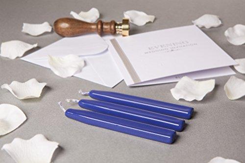 Preisvergleich Produktbild Royal Blau Traditioneller Siegelwachs von Waterstons 100mm lang mit Docht X 3