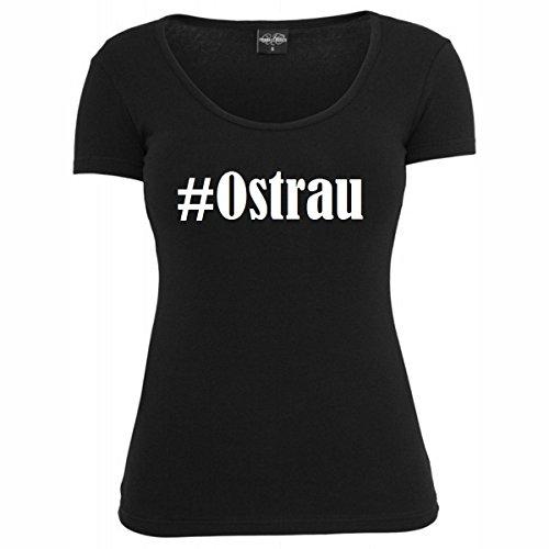 T-Shirt #Ostrau Hashtag Raute für Damen Herren und Kinder ... in den Farben Schwarz und Weiss Schwarz