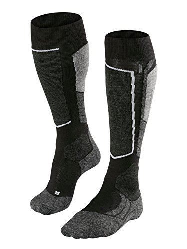 FALKE Herren Skistrumpf SK 2 Men, Black-Grey, 44-45, 16522 (Herren 10 Top Bekleidung)