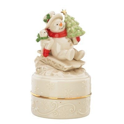 Winter Wonder Musical Snowman Box Jingle Bells by Lenox