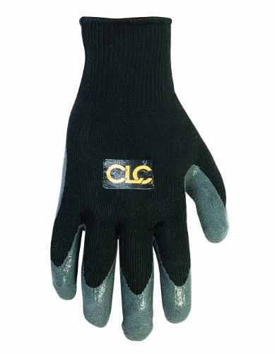 CUSTOM LEATHERCRAFT 2031M LATEX GRIPPER GLOVES  MEDIUM
