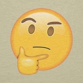 Texlab–thinking Emoji–sacchetto di stoffa Naturale