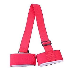 HATCHMATIC Snowboard-Schulter-Bindung-Ski Snowboard-Anti-Rutsch-Taschenträger Handgriff Bindung Schutz Pole Krawatte Verschluss: Rot