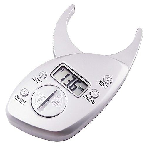 Digital Fat Caliper (Digital-Körperfett-Schieber-Analyzer-Monitor Messen mm Zoll)