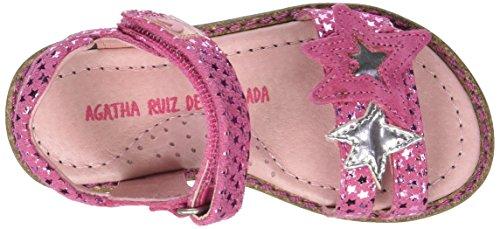 Agatha Ruiz de la Prada Strelsand, Sandales Bout Ouvert Fille Rose