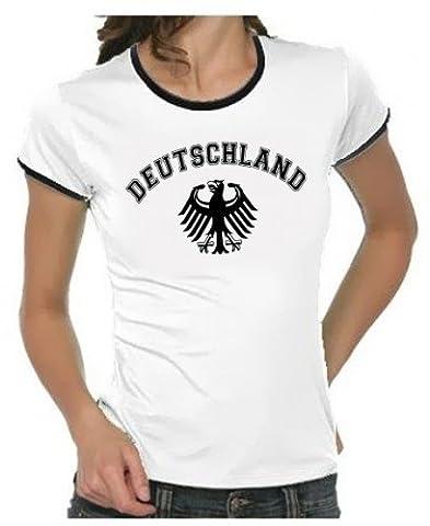 Deutschland Adler T-Shirt EM 2012 T-Shirt Weiss_RIGI DAMEN RINGER Gr.S