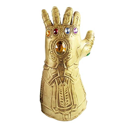 (Formwin Halloween Athanasios Handschuhe Marvel Heroes Infinity Gauntlet Kinder Kostüm für Erwachsene Herren Spielzeug Latex Gauntlet Gems)
