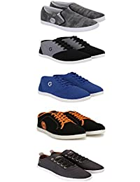 Globalite Men's Canvas Combo Of 4 Casual Shoes