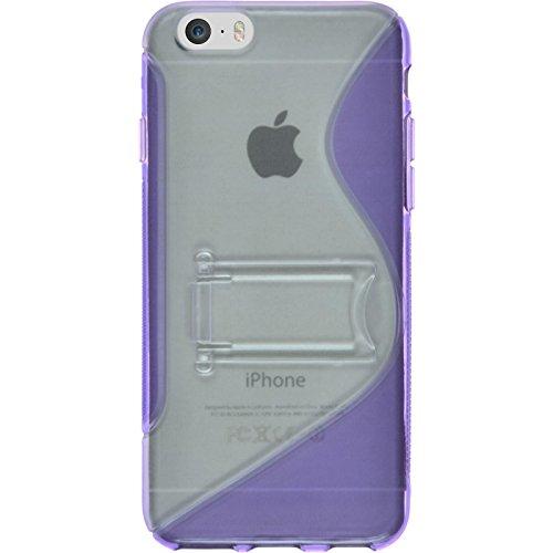 PhoneNatic Case für Apple iPhone 6s / 6 Hülle Silikon weiß Cover iPhone 6s / 6 Tasche Lila