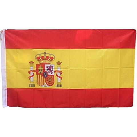 Bandiera Spagna 150cm x 90 cm - Spain Flag - Poliestere di alta qualità - Occhielli