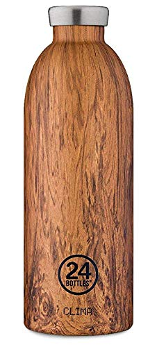 24Bottles Clima Bottle Wood Collection Isolier-Trinkflasche 850 ml Sequoia Wood