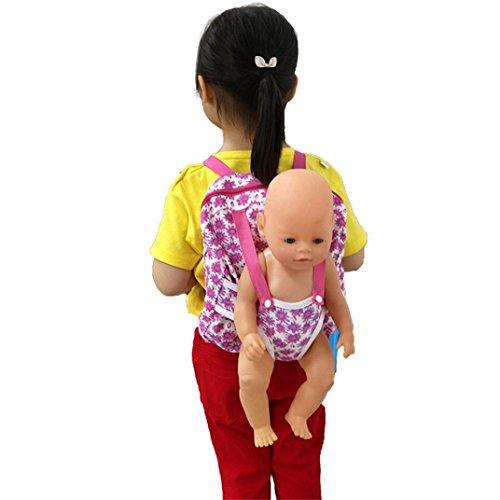 mingfa Puppe Rucksack Puppe Carrier Schlafsack Puppe Zubehör für 45,7cm American Girl Puppe Unsere Generation (Der Angst-index)