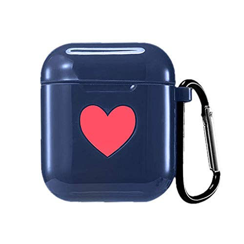 AirPods Case Cover Protective, Silicone Funda Skin Case Protectora para Apple Airpods (Azul)