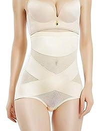 MOVWIN Mujer Bragas Braguitas Moldeadoras Calzones Elástico de Alta Cintura Adelgazante Control de Body Lencería Briefs Shapewear