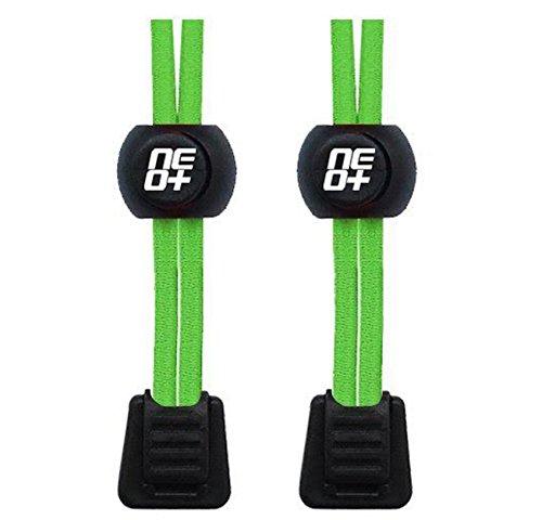 Elastische Schnürsenkel für Laufen und Triathlons - neon green