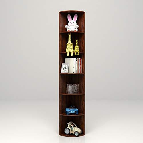 HM&DX Holz Bücherregal eckregal Regal, 6-Stufen Aufbewahrungsregal Display-Rack Bücherregal Möbel Für Haus büro, Ahorn -