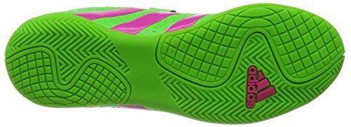 adidas - Ace 16.4 In J H&l, Scarpe da calcio Unisex – Bimbi 0-24 Verde / rosa / nero (Versol / Rosimp / Negbas)