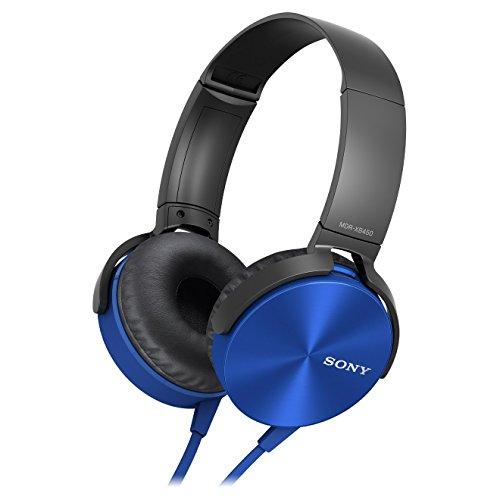 tra-Bass Kopfhörer mit integriertem Mikrofon blau ()