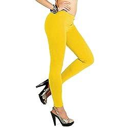 17Hills Women Light Weight Premium Viscose rayon Stretch Full Length LeggingsYellow Color