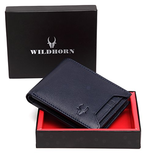 WildHorn Old River Blue Genuine High Quality Mens Leather Wallet