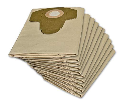 10 Staubsaugerbeutel geeignet für Parkside 1300 D3 1300 A1, 1300 B2, PNTS 1400, 1400 B2, C1, D1, 1500, PNTS 30/6