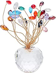 1Pc Crystal Luck Fruit Car Home Furnishing Base Decorative Adornment