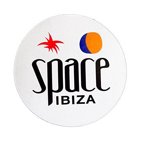 Space Ibiza Groß Neues Logo-Aufkleber - Weiss, Einheitsgröße
