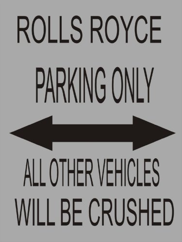 s1649-small-rolls-royce-parking-only-funny-metal-wall-sign