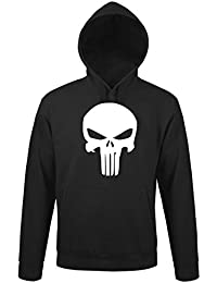 TRVPPY Hooded Sweat Suéter Sudadera con capucha Modelo The Punisher, para hombre, en muchos colores diferentes