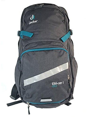 Deuter Unisex-Erwachsene Bike I 20 Rucksack, Grau (Graphite/Petrol), 24x36x45 Centimeters