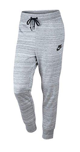 Nike W Nsw Av15 Knt lange Hosen für Damen, Weiß (White / Black), S