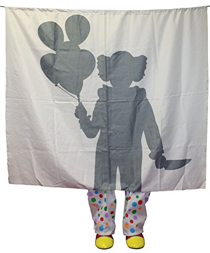 er Clown Prop Silhouette Dekoration (Scary Halloween-silhouetten)