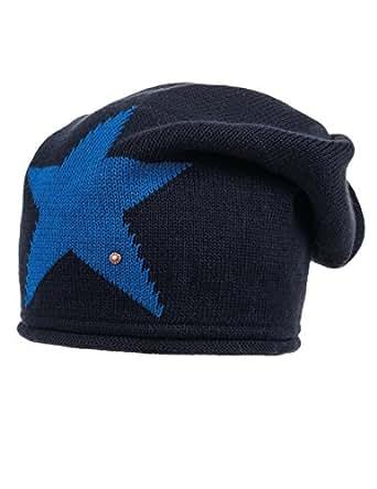 maximo Jungen Beanie mit Stern Mütze, Mehrfarbig (Nacht