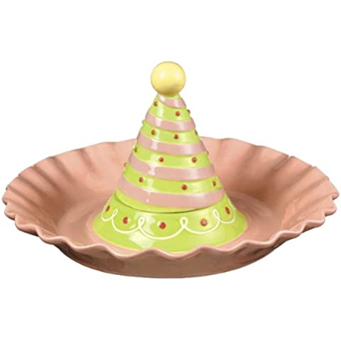 Grasslands Road Just Desserts Chip n Dip Dish with Birthday Hat Cover, 2-Piece by Grasslands Road