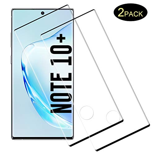 DOSMUNG [2 Pack] Panzerglas Schutzfolie für Galaxy Note 10 Plus/Note 10+ (5G), 3D Curved Full Cover Panzerglasfolie für Note 10 Plus, Anti-Kratzer, Displayschutzfolie für Samsung Galaxy Note 10 Plus -