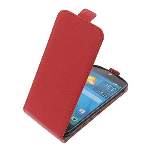 foto-kontor Custodia per Acer Liquid Jade S Liquid Jade Z Modello Tascabile Stile Flip Rosso